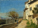 Christian Peder Mørch Zacho, View of the town wall in Saint Paul du Var