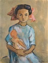 Meir Axelrod, Young girl with doll