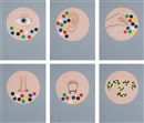 Matt Mullican, Untitled (The Senses) (in 6 parts)