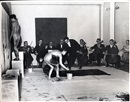 "Harry Shunk, Yves Klein performance ""anthropometries of the  blue period"""