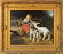Hermine Biedermann-Arendts, Young girl with dog and goats