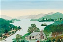 Grandma Moses, On the Banks of the Hudson River
