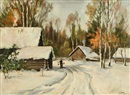 Aleksei Matveevich Prokofiev, Early Winter in the Village