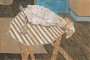 Lucian Freud, Chicken on a Bamboo Table