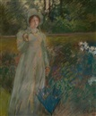 Edwin Austin Abbey, Woman in the Garden, Harper's Magazine story illustration