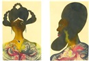 Chris Ofili, Untitled (2 works)