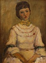 Walt Louderback, Portrait of a woman in white dress