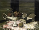 Christo Coetzee, Still life with fruit bowl and empty box