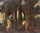 Circle Of Nicolas Poussin, Theseus finding his father's sword