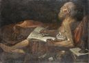 After Lionello Spada, Saint Jerome studying