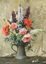 Archibald Russell Watson Allan, Still Life of Poppies and Lupins in a Vase