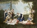 Follower Of Francesco Albani, Les amours désarmés par les nymphes de Diane