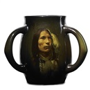 Grace Young, Indian three-handled mug, Stars Come Out Ogallala - Sioux