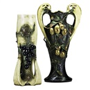 Amphora Werke Reissner, Vases with fruit and vines (2 works)