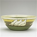 Ida Goldstein, Exceptional bowl decorated in cuerda seca with geese
