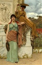 John William Godward, Waiting for the procession