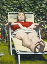 Sidney Goodman, Woman sunbathing