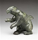 Kiawak Ashoona, Spirit Figure (Animal Spirit) Dark green