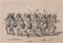 George Catlin, The Bear Dance, Plate 18 (from the North American Indian Collection)