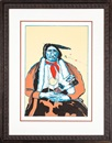 Fritz Scholder, Indian with feather fan (first state)