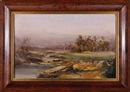 Attributed To William Charles Piguenit, Landscape with figures in a stream