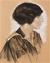 Leo Gestel, Portrait of an elegant young woman