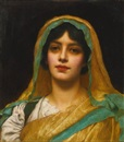 John William Godward, Head of a girl, Atalanta