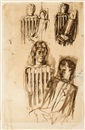 Pavel Tchelitchew, Untitled (Sketches with multiple figures)