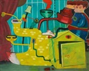 Peter Saul, Superman Versus the Toilet Duck