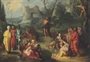 Simon de Vos, Saint John the Baptist preaching in the Wilderness