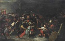 Attributed To Frans Francken the Younger, Christ being dragged through the brook Cedron after his arrest