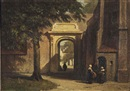 Johannes Bosboom, The church courtyard