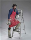 Duane Hanson, Artist with Ladder