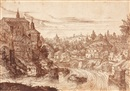 Attributed To Hans Sebald Lautensack, Townscape with a river