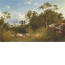 David Johnson, Landscape (White Mansion in the Distance)