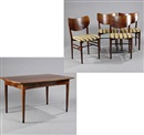 Nils Koppel, Chairs and table (set of 5)
