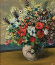 Pranas Domsaitis, Flowers in a ceramic vase