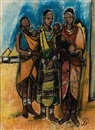 Pranas Domsaitis, African mothers with their children