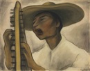 Diego Rivera, Harp Player