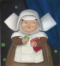 Fernando Botero, Nun Eating an Apple