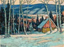 William Thurston Topham, Chalet in Winter