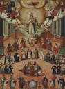 Peruvian School-Cuzco (18), The Virgin of Mercy with Saints
