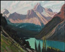 James Edward Hervey MacDonald, Study for Lake O'Hara and Cathedral Mountain, Rockies