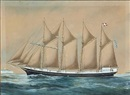 Reuben Chappell, The schooner Kaj Hvilsom of Svendborg; The schooner Cornwall of Svendborg (2 works)