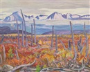 Alexander Young Jackson, Mountains on Haines Highway, Yukon