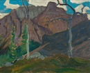 James Edward Hervey MacDonald, Cathedral Mountain