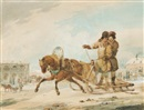 Karl Ivanovich Kollmann, Sleigh-ride through a Russian Town