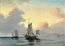 Daniel Hermann Anton Melbye, Fishing wessels off the coast