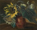 Boris Dmitrievich Grigoriev, Still Life with Sunflowers