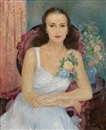 Olga Sacharoff, Portrait of a lady